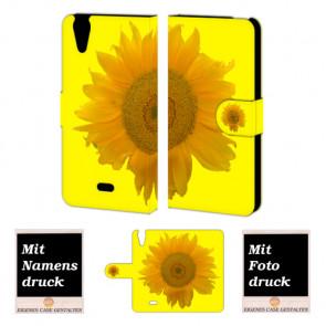 Wiko Rainbow jam 4G Sonnenblumen Handy Tasche Hülle Foto Bild Druck