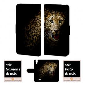 Wiko Rainbow jam 4G Tiger Handy Tasche Hülle Foto Bild Druck