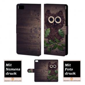Xiaomi Mi 5 Kaffee Eule Handy Tasche Hülle Foto Bild Druck