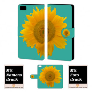 Xiaomi Mi 5 Sonnenblumen Handy Tasche Hülle Foto Bild Druck