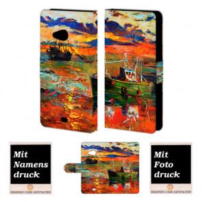 Microsoft Lumia 535 Gemälde Handy Tasche Hülle Foto Bild Druck