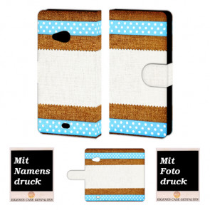 Microsoft Lumia 535 Muster Handy Tasche Hülle Foto Bild Druck