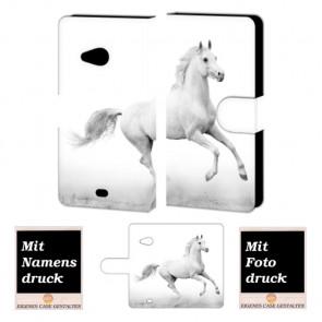 Microsoft Lumia 535 Pferd Handy Tasche Hülle Foto Bild Druck