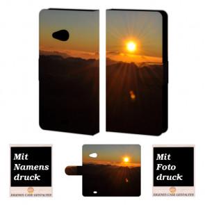 Microsoft Lumia 535 Sonnenaufgang Handy Tasche Hülle Foto Bild Druck