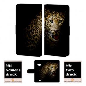 Microsoft Lumia 535 Tiger Handy Tasche Hülle Foto Bild Druck