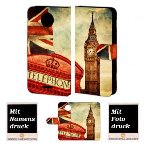 Motorola Moto G5 Handy Tasche selbst gestalten mit eigenem Foto Big Ben-Uhrturm London