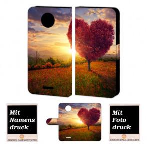 Motorola Moto C Handyhülle mit Foto Druck zum selbst gestalten Herzbaum