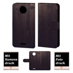 Motorola Moto C Plus Handy Tasche selbst gestalten mit eigenem Foto Holz Optik