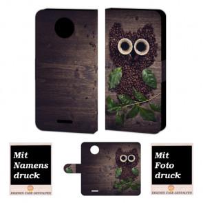 Motorola Moto G5 Handy Tasche selbst gestalten mit eigenem Foto Kaffee Eule