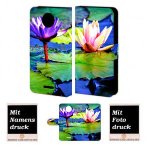 Motorola Moto C Smartphonehülle mit eigenem Foto selbst gestalten Lotosblumen