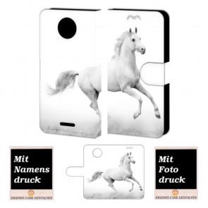 Motorola Moto C Plus Handyhülle mit Foto Druck zum selbst gestalten Pferd