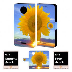 Motorola Moto E4 Plus Handy Tasche selbst gestalten mit eigenem Foto Sonnenblumen