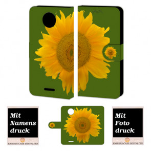 Motorola Moto G5 Personalisierte Handyhülle mit Foto selbst gestalten Sonnenblumen