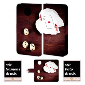 Motorola Moto E4 Plus Individuelle schutzhülle Foto Druck Spielkarten -Würfel
