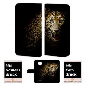 Motorola Moto C Tiger Handy Tasche Hülle Foto Bild Druck
