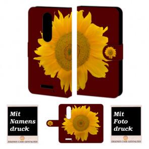 Moto Droid Turbo 2 Sonnenblumen Handy Tasche Hülle Foto Bild Druck