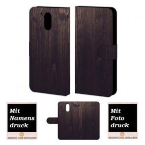 Moto G4 / G4 Plus Holz Optik Handy Tasche Hülle Foto Bild Druck