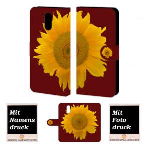 Moto G4 / G4 Plus Sonnenblumen Handy Tasche Hülle Foto Bild Druck