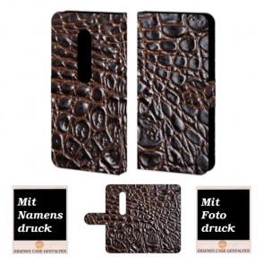 Moto X Play Krokodil Optik Handy Tasche Hülle Foto Bild Druck