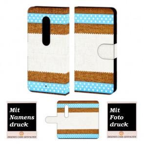 Moto X Play Muster Handy Tasche Hülle Foto Bild Druck