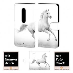 Moto X Play Pferd Handy Tasche Hülle Foto Bild Druck