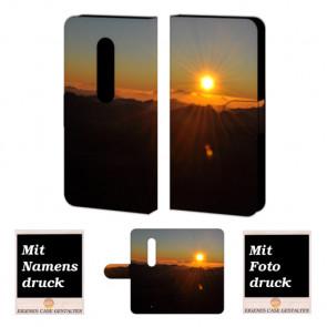 Moto X Play Sonnenaufgang Handy Tasche Hülle Foto Bild Druck
