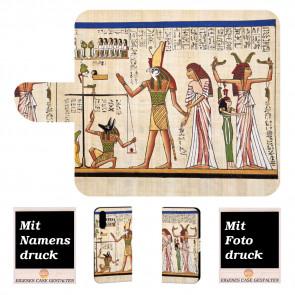 Handy Hülle für Huawei P30 mit Antikes -Ägypter + Fotodruck Text Logo