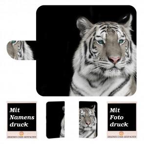 Huawei P30 Personalisierte mit Tiger + Foto Text Druck Handy Hülle