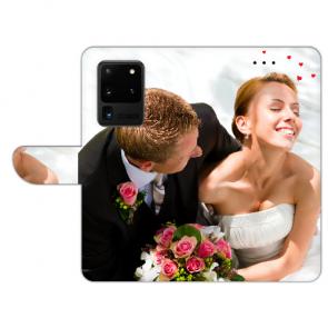 Samsung Galaxy S20 Ultra Handyhülle Tasche mit Bild Text Fotodruck