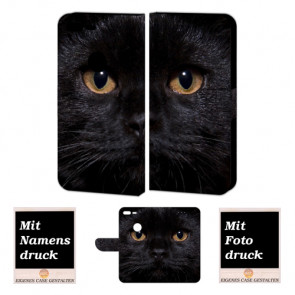 Google Pixel XL Schutzhülle Handy Hülle Tasche mit Schwarz Katze + Foto + Druck