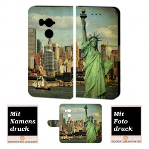 HTC U11 Plus Personalisierte Handy Hülle mit Freiheitsstatue + Foto + Druck