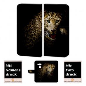 HTC U11 Plus Personalisierte Handy Hülle mit Leopard Foto Druck