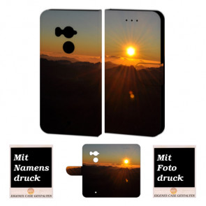 HTC U11 Plus Handy Hülle Tasche Etui mit Sonnenaufgang Fotodruck