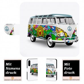 iPhone XR Personalisierte Handyhülle mit Hippie Bus + Bilddruck Etui