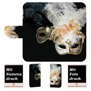 Schutzhülle Handy Tasche mit Masken Fotodruck für Samsung Galaxy M20