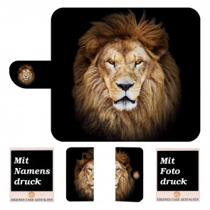 Huawei Mate 10 Schutzhülle Handy Tasche mit Löwe Bild Druck Etui