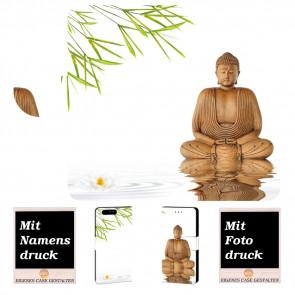 Handy Hülle mit Frieden Buddha Fotodruck für Huawei P10 Plus