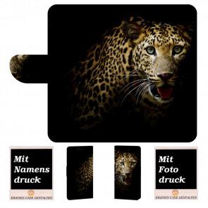 Huawei P10 Plus Schutzhülle Handy Tasche mit Bilddruck Leopard