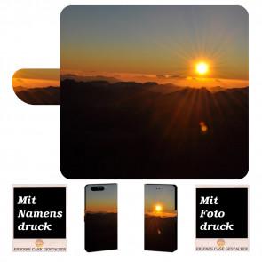 Handy Hülle mit Sonnenaufgang Bild Druck für Huawei P10 Plus