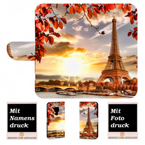 Huawei Mate 20 Personalisierte Handy Tasche mit Eiffelturm Bilddruck