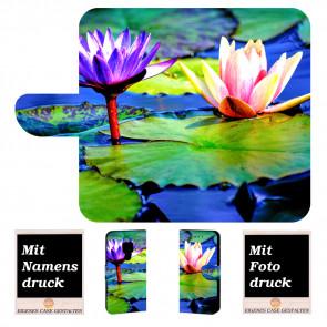Huawei Mate 20 Personalisierte Handy Tasche mit Lotosblumen Fotodruck