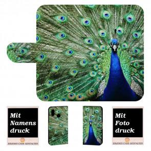 Samsung Galaxy A10s Individuelle Handy Hülle mit Pfau Bild Druck