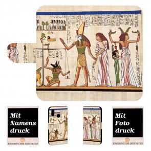 Handy Tasche mit Fotodruck Götter Ägyptens für Samsung Galaxy A10s