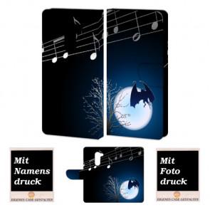Huawei Mate 9 Lite Handy Hülle mit Fledermaus- Mond Foto Druck