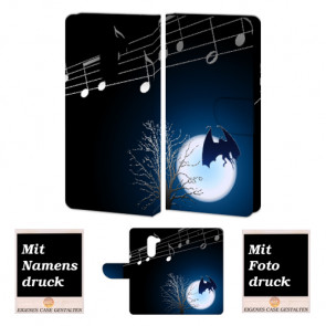 Huawei Honor 6X Handy Hülle mit Fledermaus- Mond Foto Druck