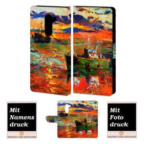 Huawei Honor 6X Personalisierte Handy Tasche mit Gemälde + Foto Text Druck