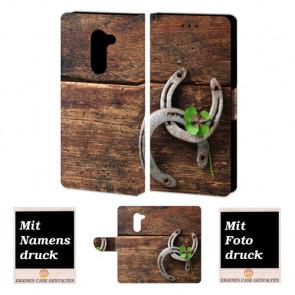 Huawei Mate 9 Lite Schutzhülle Handy mit Holz - Hufeisen Fotodruck