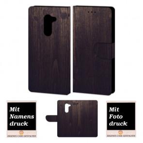 Handy Tasche Hülle für Huawei GR5 2017 mit Holz Optik Bild Druck