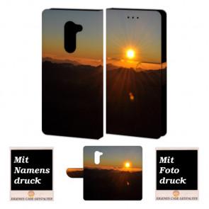 Huawei Honor 6X Schutzhülle Handy Tasche mit Sonnenaufgang Fotodruck