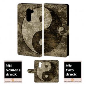 Huawei Mate 9 Lite Handy Hülle Tasche mit Yin Yang Foto Druck Etui